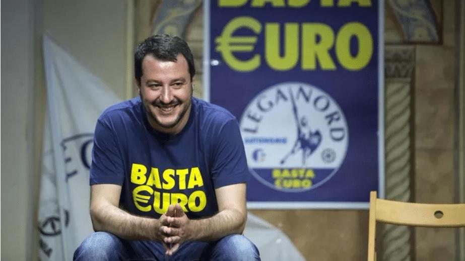 Salvini, premier ministre italien, basta euro