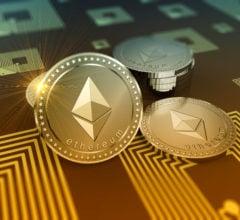 Shiny Ethereum crypto-currency background