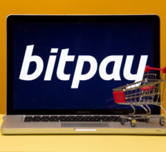 Tula, Russia 17. 06 2019 Bitpay on the laptop display.
