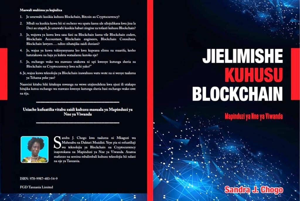 "Couverture du livre ""Jihelimishe Kuhusu Blockchain"""