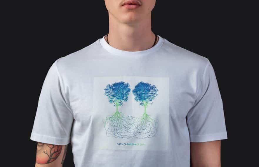Le t-shirt représentant l'oeuvre de Laurent Grasso en collaboration avec Lunu