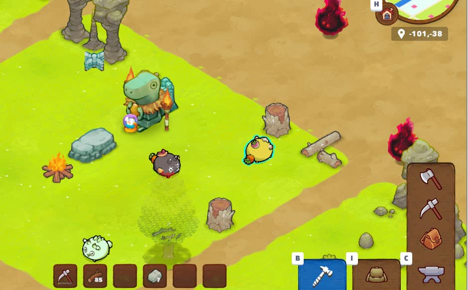 axie infinity scene 02 outils