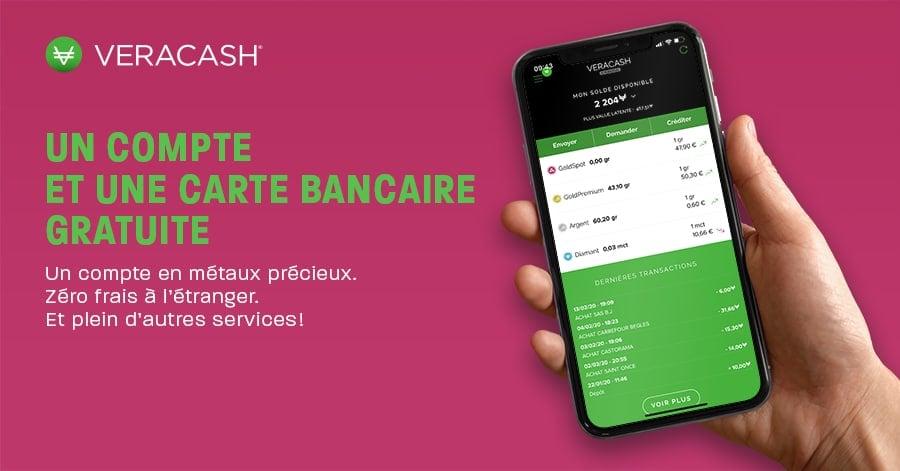Veracash un compte et une carte bancaire gratuite
