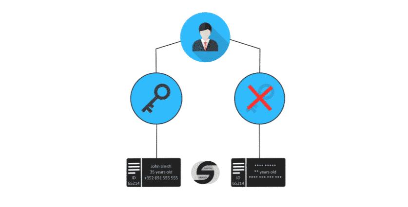 Schématisation de la protection de vos données grâce à une clé privée au sein du SDI.