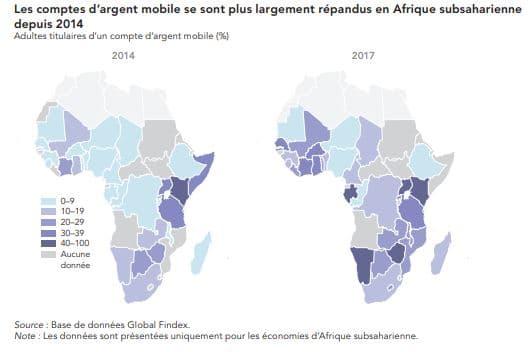 Croissance du mobile money en afrique depuis 2014