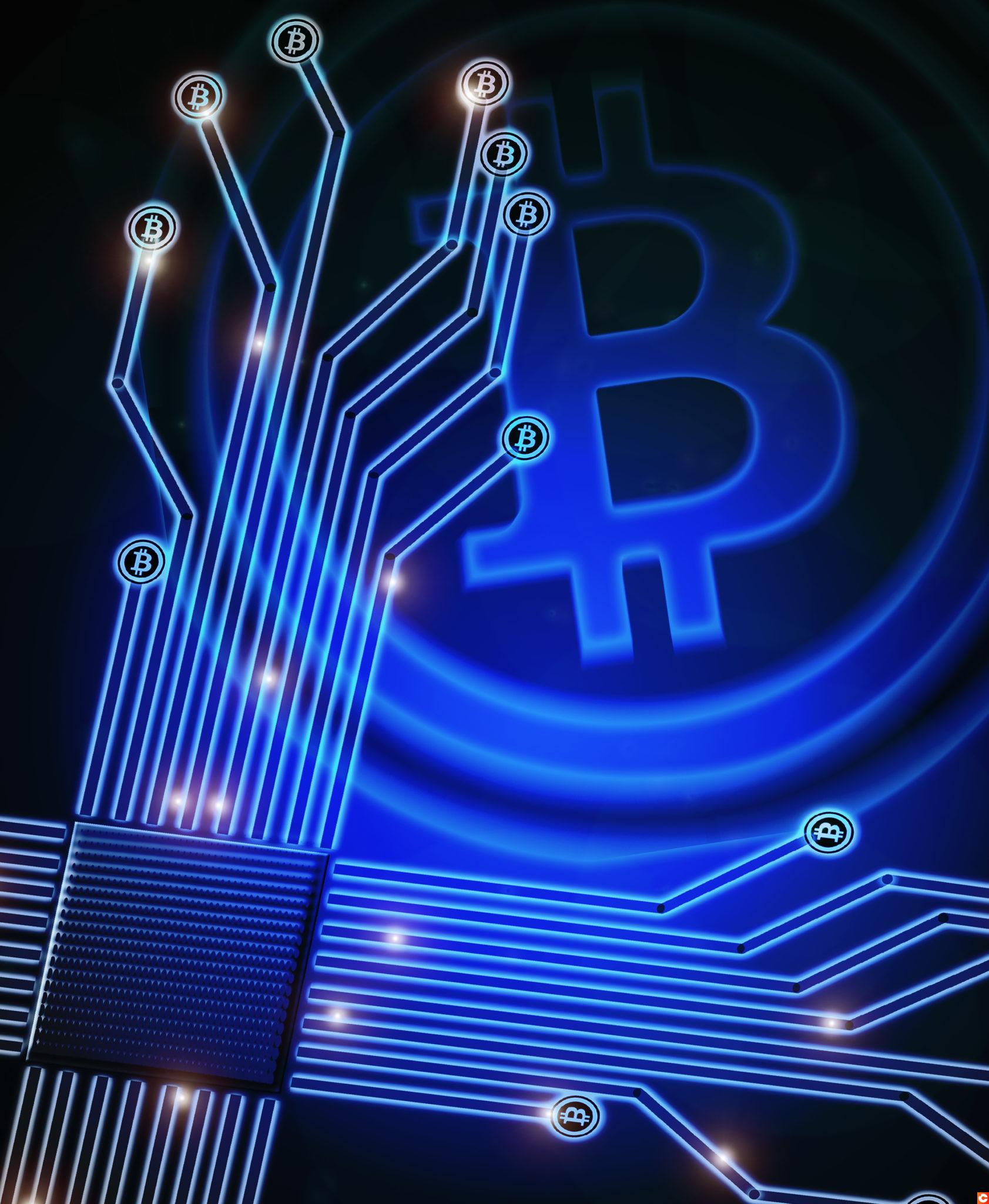 bitcoin background digital illustration