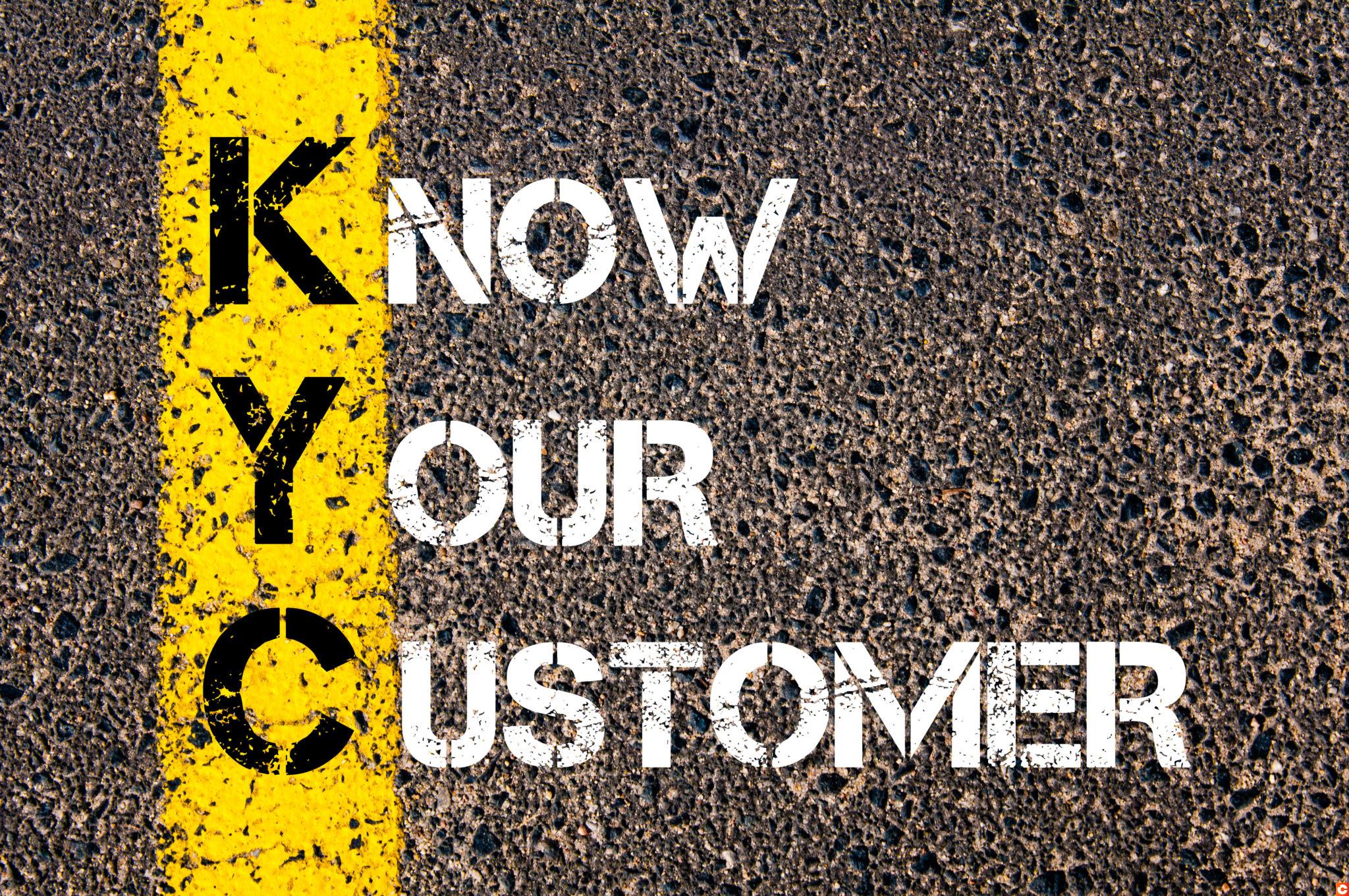 Business Acronym KYC - Know Your Customer