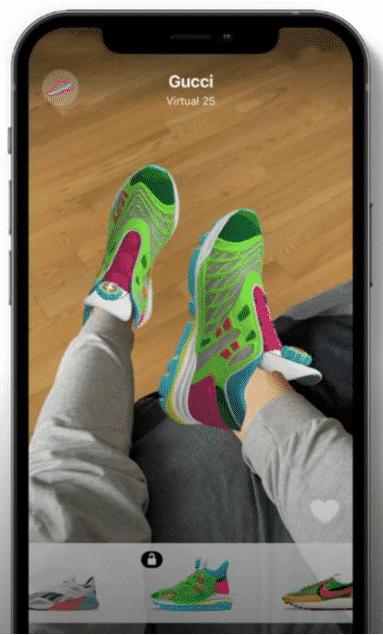 Guccia Virtual 25, visibles sur l'application