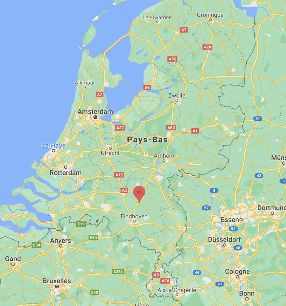 Carte de Veghel aux Pays Bas