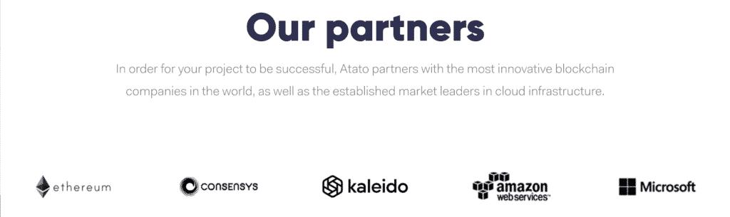 Les partenariats de Atato