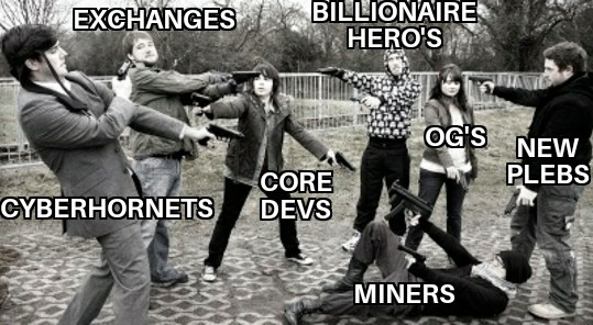 Many people from the bitcoin community gunning at each others