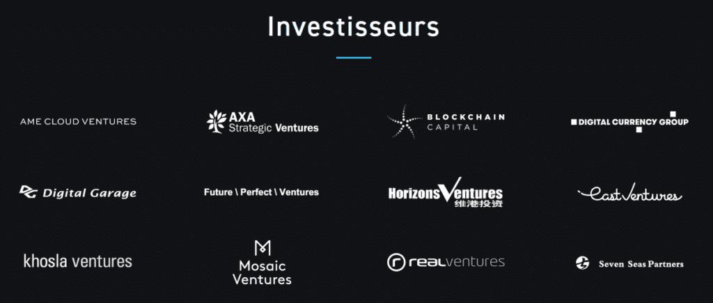 Investisseurs chez Blockstream