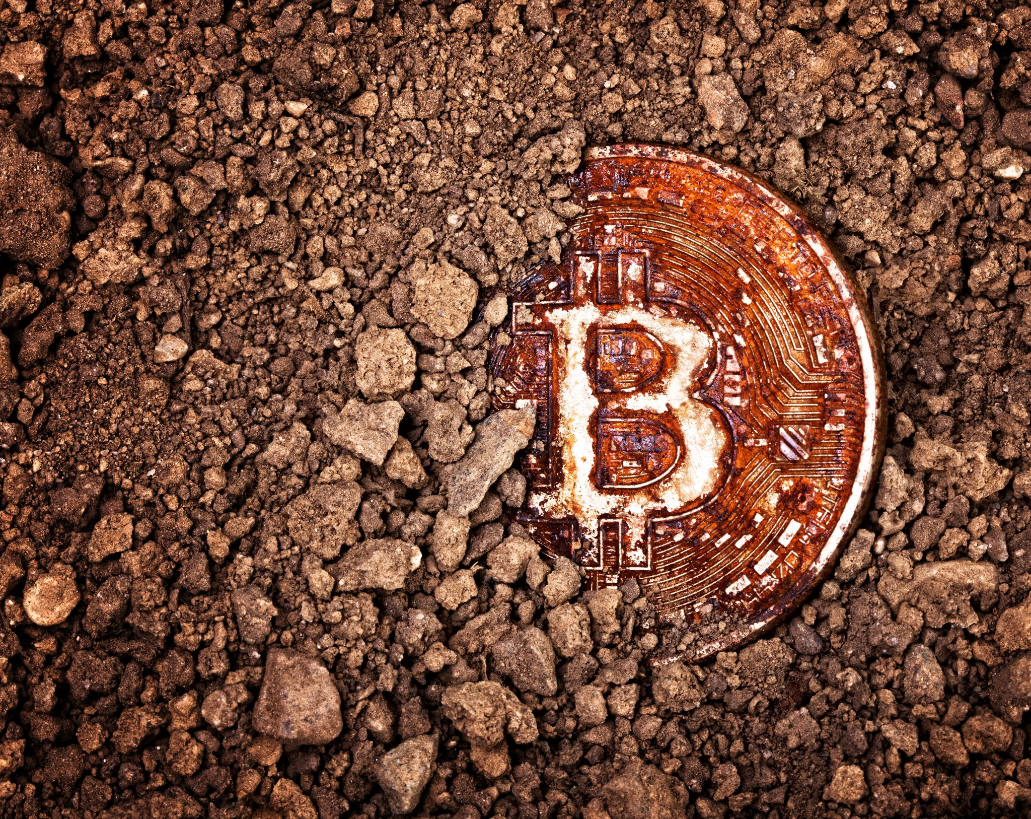 buried rusty bitcoin