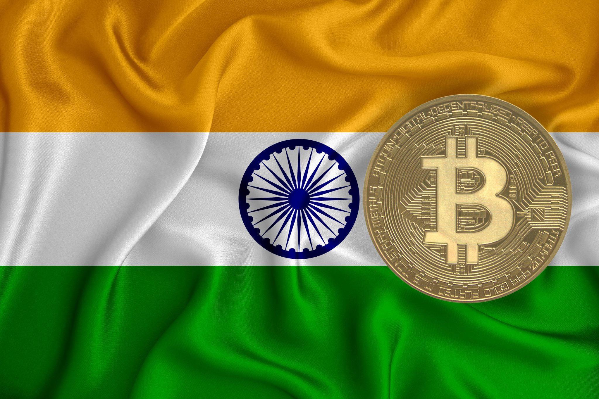 flag, bitcoin gold coin on flag background. The concept of blockchain, bitcoin, currency decentralization in the country. 3d-rendering