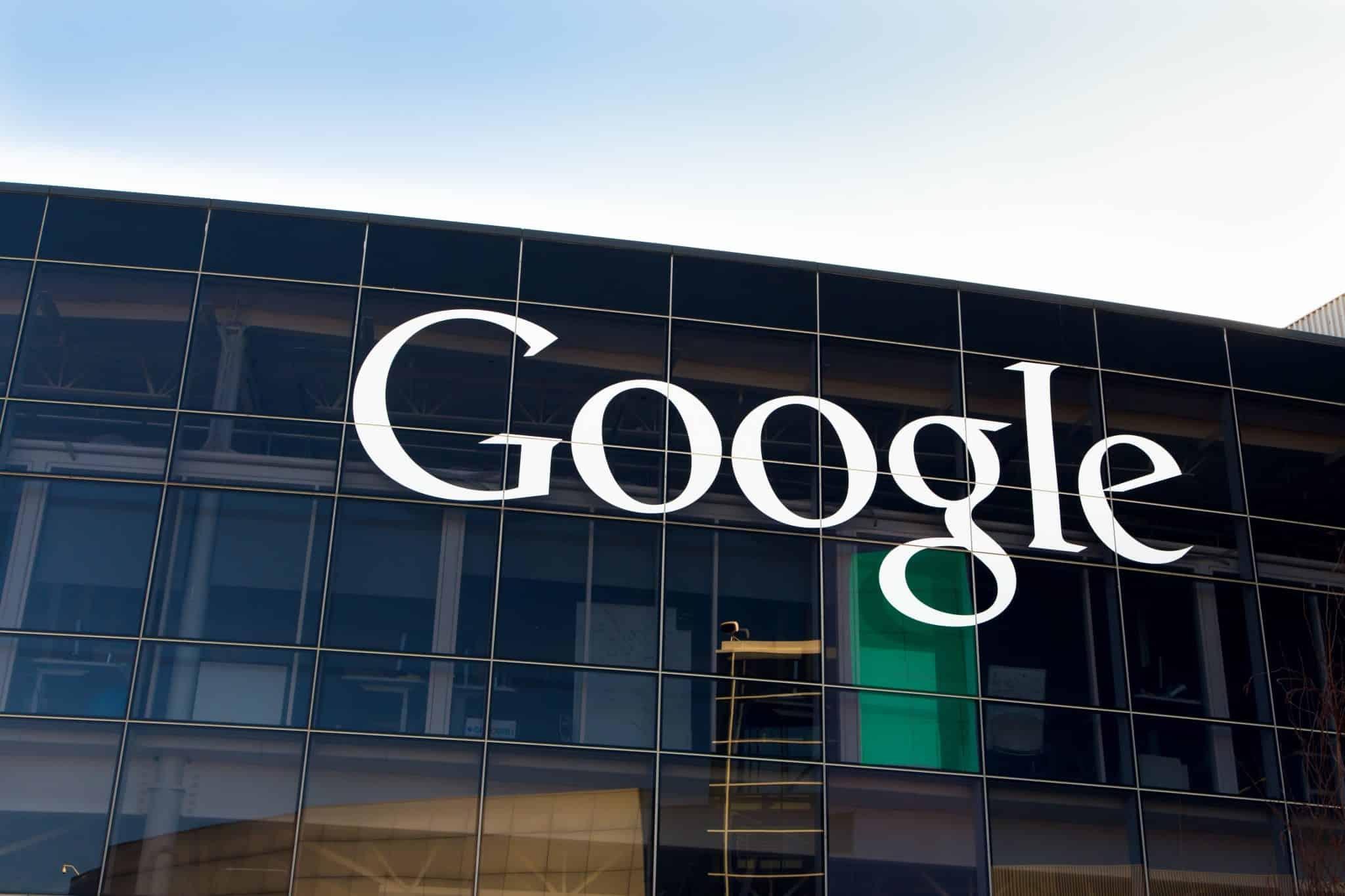 Google Corporate Headquarters and Logo
