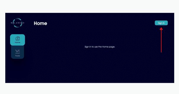 la page d'accueil de balanced Network