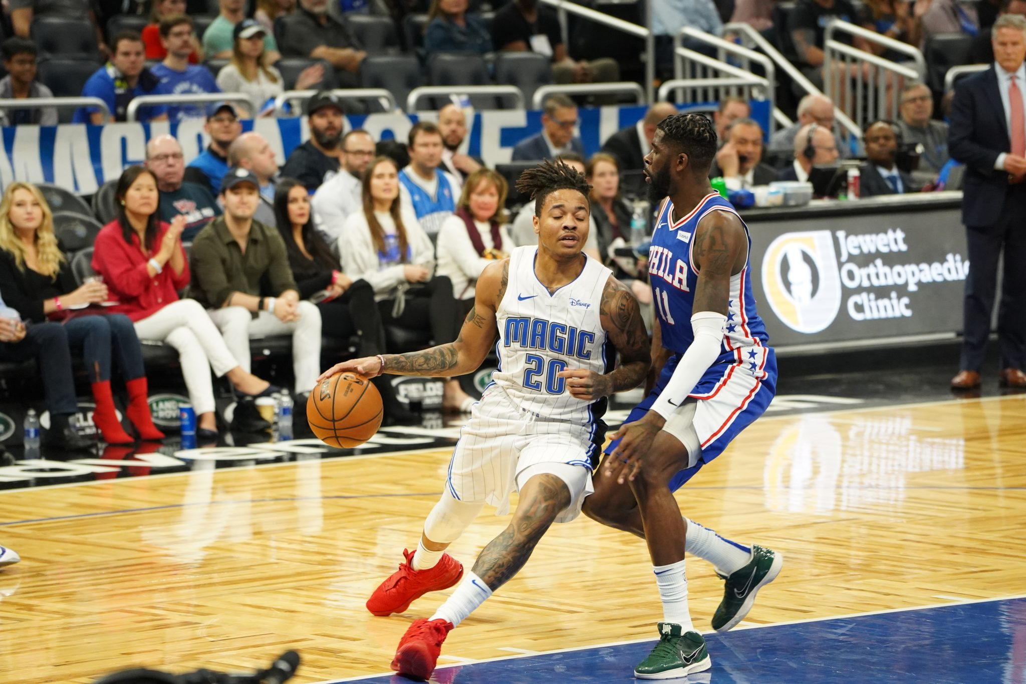 Orlando Magic hosts the Philadelphia 76ers at the Amway Arena in Orlando, Florida on Friday December 27, 2019.