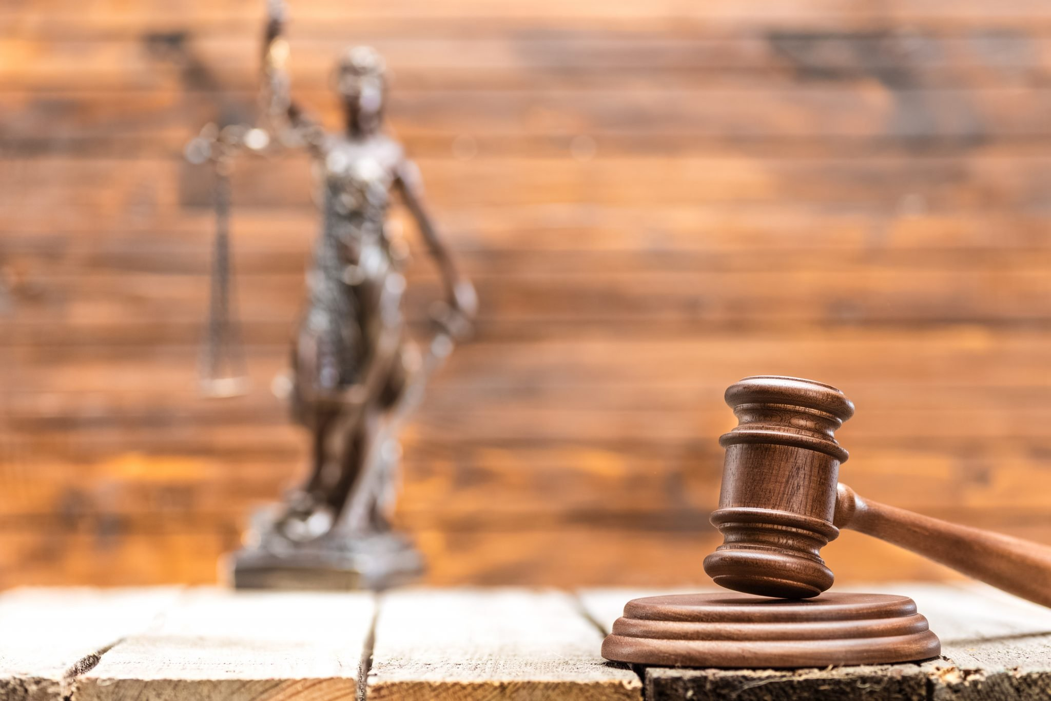 Wooden mallet of judge
