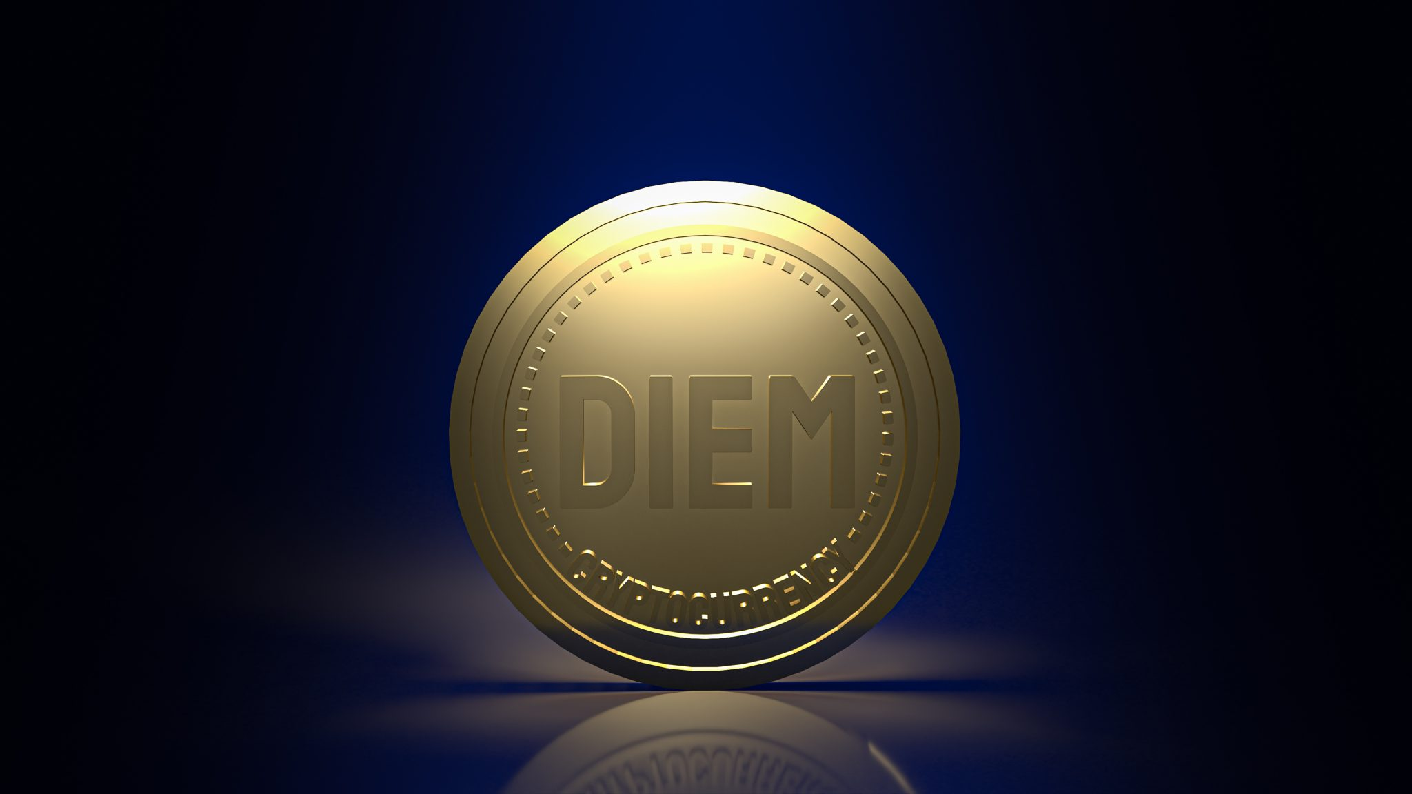 Bangkok /Thailand /3 December 2020  Diem coins  cryptocurrency from  Facebook content 3d rendering