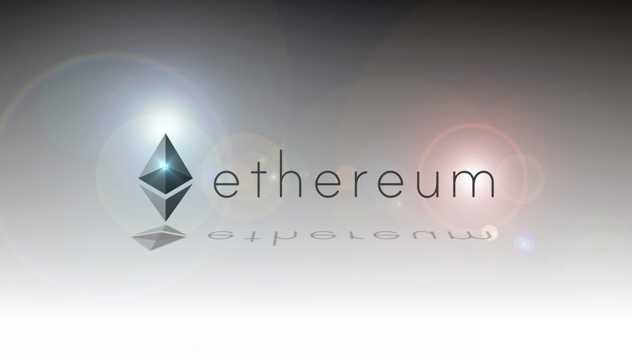 Ethereum digital crypto currency logo illustration