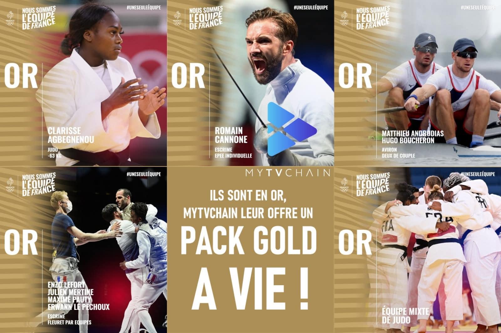 MyTVchain offre aux médaillés un pack Gold à vie ! - CoinTribune
