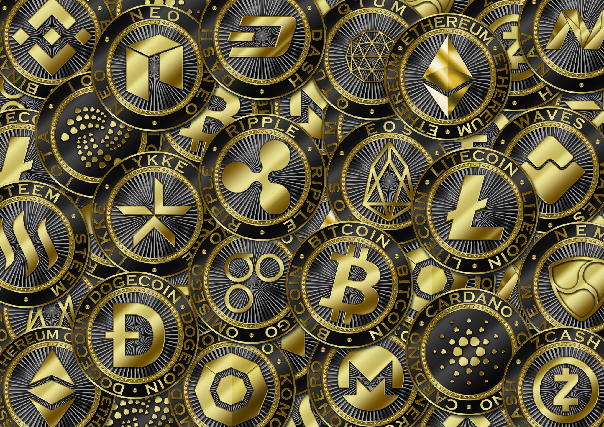Cryptocurrency gold question / Original luxury illustration cryptocurrency coin