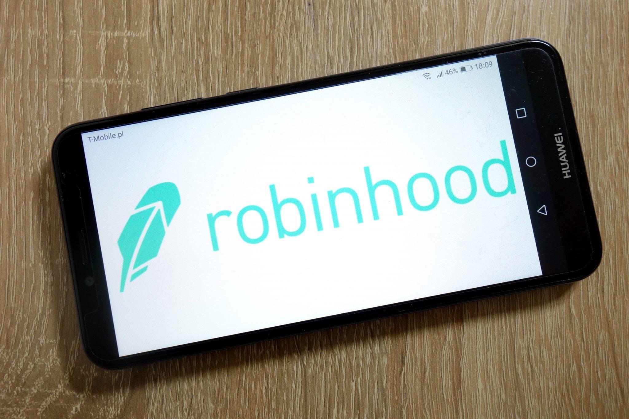 KONSKIE, POLAND - January 10, 2019: Robinhood company logo displayed on smartphone
