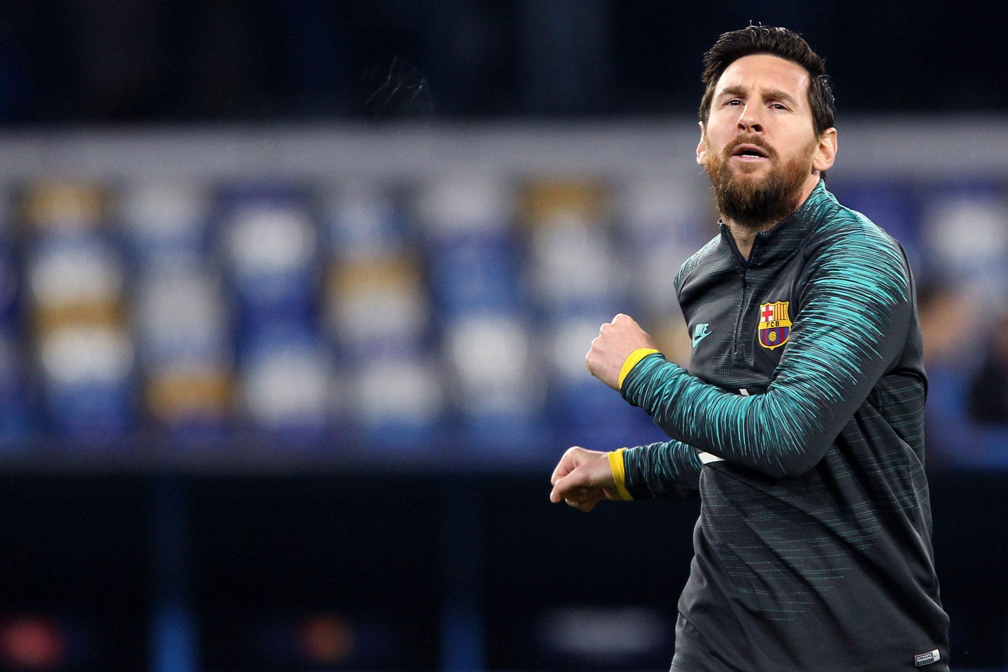 Napoli - Italy. Uefa Champions League 2019-20 - Ssc Napoli vs Barcelona Fc -  Lionel Messi of Fc Barcelona