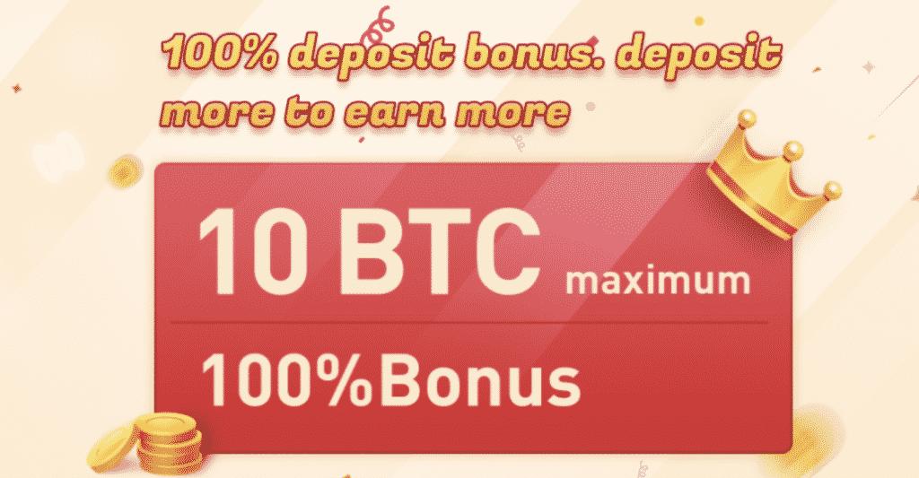 100% de bonus de dépôt